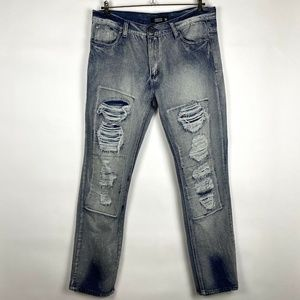 Trestles Supply Co. Distressed Blue Jeans Size 36